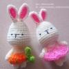 พวงกุญแจกระต่ายคู่รัก สีชมพู