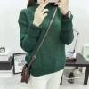 สีเขียว : Sweater เสื้อไหมพรมถักคอตั้ง เก๋ๆ ไหมพรมนุ่มยืดได้เยอะ