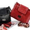 กระเป๋าสะพายข้าง ผู้หญิง ขนาดกลาง ปรับแบบ ได้ 2 สไตล์ กระเป๋าสะพายหลัง หรือ เปลี่ยนเป็น สะพายข้าง ช่องเยอะ หนัง pu ขัดมัน สวย 713724