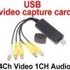 ตัวแปลงสัญณาณ TV VHS Audio เป็น USB 4Channel รุ่นใหม่ รองรับ Windows 7