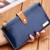 กระเป๋าสตางค์ผู้หญิง ใบยาว หนังวัวแท้ กระเป๋าสตางค์ใส่บัตรได้เยอะ จุใจ สำหรับสาว ๆ ที่ชอบพกบัตร สีน้ำเงิน no 87066