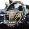 HELLO KITTY - BLACK ICECREAM หุ้มพวงมาลัยรถยนต์ PVC 3D