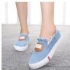 รองเท้าผ้าใบ ผู้หญิง รองเท้า วัยรุ่น สไตล์วินเทจ แบบเซอร์ เซอร์ สียีนส์ ดีไซน์ ขุย ตรงข้อเท้า รองเท้าผ้าใบวัยรุ่น น่ารัก ๆ ใส่เที่ยว 670068