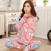 ชุดนอน แบบ เสื้อกางเกง เสื้อนอนแขนยาว คอกลม ลายมิกกี้ สีชมพู พร้อมกางเกงเข้าชุด ชุดนอน แบบวัยรุ่น คุณหนู ชุดนอนผู้หญิง 130333_2
