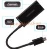 HDTV Adapter-Micro USB สำหรับ Galaxy SII Note Infuse 4G HTC