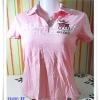#155003 Used เสื้อยืดคอปกสีชมพู Pastel