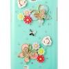 เคสโทรศัพท์ เคส Samsung Galaxy Note 2 N7100 เคส Hand made 3 D สีเขียว Theme ผีเสื้อ ใน สวนดอกไม้ ฝัง คริสตัล วิ้ง ๆ สวยสุด ๆ 844051