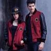เสื้อคลุมผู้ชายแขนยาว ผู้หญิง ใส่ได้ เสื้อแจ็คเก็ต ผ้า คอตต้อน ผสม หนัง เสื้อ jacket สีแดงเข้ม เสื้อเท่ ๆ ใส่ขี่มอเตอไซค์ สวย 585852_3