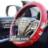 HELLO KITTY - RED BLUE DOT หุ้มพวงมาลัยรถยนต์ PVC 3D