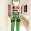 ชุดเอี๊ยม สีเขียว jumpsuit Super Mario เอวยืด พร้อมสายเอี๊ยมแบบถอดได้ น่ารักมากๆ