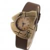 นาฬิกาข้อมือผู้หญิง นาฬิกาข้อมือ สไตล์วินเทจ อักษรโบราณ ยุคหิน นาฬิกาข้อมือ แกะลาย ย้อนยุค สายหนัง ราคาถูกสุด ๆ 56873