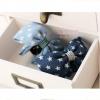 กิ๊บติดผมแฟชั่นสไตล์ญี่ปุ่นแต่งโบว์ผ้ายีนส์สีฟ้าและสีน้ำเงิน