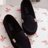 รองเท้าหุ้มส้น ผู้หญิง รองเท้าส้นแบน แบบเรียบ หนังแท้ โชว์สีสัน รองเท้าปิดหน้าเท้า ลดราคา รองเท้าใส่เที่ยว ใส่ทำงาน สี ดำ 556014