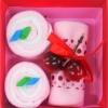 เค้กโรลผ้าขนหนู เซอร์ไพร์สวันพิเศษ (วันเกิด,วันวาเลนไทน์,วันแห่งความรัก) สีชมพู
