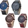 นาฬิกาข้อมือ ผู้ชาย สายหนัง นาฬิกา แนว Sport ดีไซน์ หน้าปัด 3 มิติ ตัวเลขนูน สายหนัง สีเทา ดำ น้ำตาล นาฬิกา แบบเท่ ๆ ของขวัญให้แฟน 476124