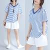 JY25402#เสื้อOversizeสไตล์เกาหลี เสื้อโอเวอร์ไซส์แต่งลายแนวๆ อก*100ซม.ขึ้นไปประมาณ40-42นิ้วขึ้น