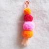 พวงกุญแจปอมปอม pompoms crochet keychain