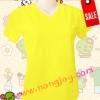 เสื้อเปล่าสีเหลือง คอวี Size XL