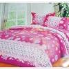 6 ฟุต 3 ชิ้น ชุดเครื่องนอน ผ้าปูที่นอน สีชมพูหวาน ๆ P101