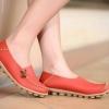 รองเท้าหุ้มส้น ผู้หญิง วัสดุ ทำจากหนังแท้ พื้นปุ่มกันลื่น แข็งแรงทนทาน รองเท้าคัทชู ไม่มีส้น ใส่สบาย ดีไซน์เก๋ แบบน่ารัก สีส้ม no 65812_3