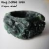 Dragon carved Burma Jade ring แหวนหยกพม่าแกะรูปมังกร