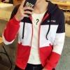 เสื้อ แจ็คเก็ต ผู้ชาย แบบ มีฮู้ด เสื้อกันหนาว แขนยาว ผ้านุ่ม ลายสลับสี Jacket ใส่เที่ยว เท่ ๆ ราคาถูก 220191_5