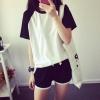 เซ็ทเสื้อ+กางเกง (สีขาวดำ)
