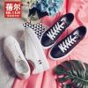 รองเท้าผ้าใบผู้หญิง รองเท้าผ้าใบแฟชั่น ผ้าใบแบบผูกเชือก มีไซส์ 35 36 37 38 39