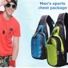 กระเป๋าคาดอก ผู้ชาย แนว Sport ผ้าไนลอน กันน้ำ สีสันสดใส กระเป๋าสะพาย ด้านหน้า สำหรับท่องเที่ยว ขี่จักรยาน กระเป๋าใส่ของกระจุกกระจิก 840870
