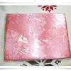 ผ้าแพร 6 ฟุต สีโอรสลายดอกกุหลาบ P102