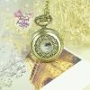 นาฬิกาพก,นาฬิกาสร้อยคอสไตล์วินเทจฝาหน้าฉลุลายเถาวัลย์ size s