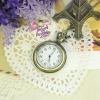 นาฬิกาพก,นาฬิกาสร้อยคอสไตล์วินเทจกระจกเหลี่ยมสีบรอนซ์ทอง