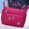 กระเป๋าสะพายข้างผู้หญิง กระเป๋าผ้าไนลอน กันน้ำ แบบวัยรุ่น สีม่วง สีชมพู สีดำ มีช่องซิป แยกเยอะ กระเป๋ากันน้ำ 269699