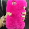 เคส iphone 6 6 plus เคสขนเฟอร์ ขนกระต่ายแท้ ขนาด 4.7 และ 5.5 นิ้ว เคสขนกระต่าย ทำความสะอาดได้ สีชมพู ดอกกุหลาบ 403364_4
