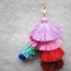พวงกุญแจพู่ห้อยกระเป๋า tassels pompoms keychains
