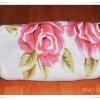 ผ้าห่มเนื้อนุ่ม ลายดอกกุหลาบ หวาน ๆ