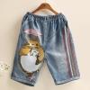 กางเกงยีนส์ลายปักด้ายสวยๆ