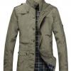 เสื้อแจ็คเก็ต ผู้ชายแขนยาว ผ้า Polyester เสื้อคลุม กันลม กันแดด แบบสวย ใส่สบาย สีน้ำตาลอ่อน กากี ใส่ขี่มอเตอร์ไซค์ เสื้อแขนยาว ซิปหน้า 131440_2
