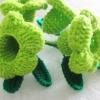 บานบุรีถัก สีเขียว (green color allamanda crochet)
