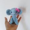 ตุ๊กตาช้างถัก ขนาด 4*2.5 นิ้ว elephant doll amigurumi crochet 4 inches