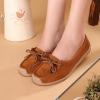 รองเท้าผู้หญิง หุ้มส้น ส้นแบน รองเท้าหนังแท้ ผู้หญิง รองเท้าคัทชู ใส่สบาย ดีไซน์ หนังแท้ มีเชือกผูก ใส่ทำงาน ใส่เที่ยว สีน้ำตาล 40782_5