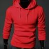 เสื้อ แจ็คเก็ต ผู้ชายแขนยาว แบบสวม และ มีฮู้ด ด้านหลัง เสื้อแขนยาวมีอู้ด เสื้อกันหนาวสำหรับผู้ชาย สีแดง no 683268_4