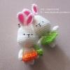 พวงกุญแจกระต่ายคู่รัก สีเขียว