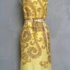 เดรสแขนกุดสีเหลือง