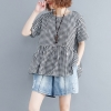 เสื้อโอเวอร์ไซส์ ผ้าฝ้าย ผ้าลินินใส่สบาย*อกใหญ่ประมาณ 40-42 นิ้วขึ้นไป