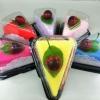 เครปเค้กผ้าขนหนู เซอร์ไพร์สวันพิเศษ (วันเกิด,วันวาเลนไทน์,วันแห่งความรัก) สีเหลือง