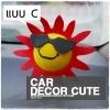 Antenna balls ลูกบอลน่ารักเสียบเสาอากาศรถยนต์ ลายการ์ตูน - SUNGLASSED SUN