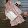 เสื้อผ้าฝ้ายผ้าลินิน มีขนาดไซส์เดียว เสื้อช่วงหน้าอกโดยประมาณ 100 เซนติเมตรขึ้นไปหรือประมาณ40-42นิ้ว