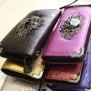 กระเป๋าสตางค์ แนวร๊อค กระเป๋าสตางค์พั้งค์ หนังนิ่ม ติดหัวกะโหลก ด้านหน้ากระเป๋า กระเป๋าสตางค์ผู้หญิง แบบร๊อค ๆ พลาดไม่ได้นะคะ 895681
