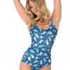 ชุดว่ายน้ำผู้หญิง ชุดว่ายน้ำเด็กผู้หญิง วันพีช ทรง วีคัท ลายการ์ตูน ฝูงปลาฉลาม ว่ายในทะเล สีฟ้า ชุดว่ายน้ำน่ารัก ราคาถูก 392360_11